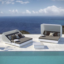 Contemporary daybed / polyethylene / garden / adjustable backrest