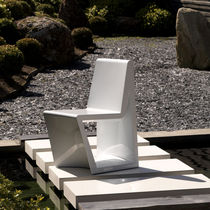 Contemporary chair / polyethylene / garden / 100% recyclable
