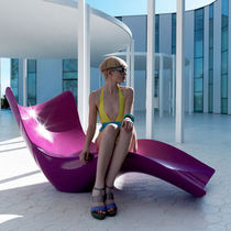 Original design lounge chair / polyethylene / garden / illuminated