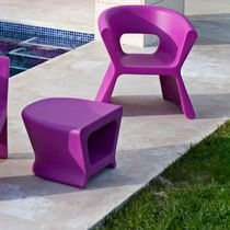 Contemporary chair / polyethylene / 100% recyclable / garden