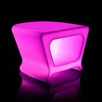 Contemporary pouf / polyethylene / illuminated / garden