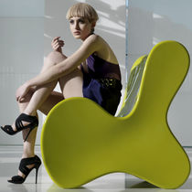 Original design fireside chair / polyethylene / garden / by Karim Rashid