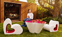 Original design armchair / polyethylene / child's / garden