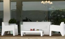 Contemporary armchair / polyethylene / 100% recyclable / garden