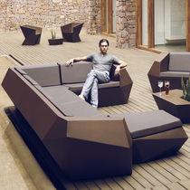 Corner sofa / modular / original design / garden