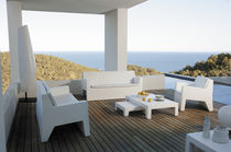 Contemporary sofa / garden / polyethylene / 2-seater