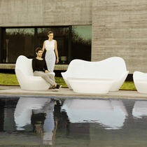 Original design sofa / garden / polyethylene / 2-seater