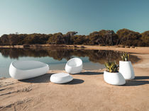 Original design armchair / polyethylene / 100% recyclable / garden