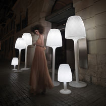 Floor-standing lamp / contemporary / polyethylene / outdoor