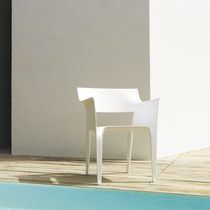 Contemporary chair / polypropylene / fiberglass / stackable