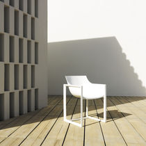 Contemporary chair / polypropylene / fiberglass / garden