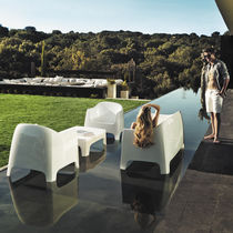 Contemporary sofa / garden / plastic / 2-seater