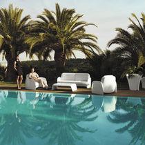 Organic design sofa / garden / polyethylene / 2-seater