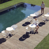 Contemporary table / polyethylene / round / garden
