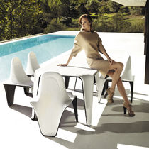 Original design chair / polyethylene / garden / by Fabio Novembre