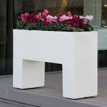 Polyethylene planter / rectangular / contemporary / illuminated