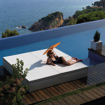 Double bed / contemporary / polyethylene / outdoor
