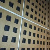 Wooden suspended ceiling / tile / acoustic / perforated