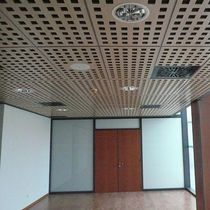 Wooden suspended ceiling / panel / acoustic / wire