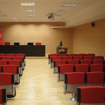 Interior fitting acoustic panel / wooden / auditorium / commercial