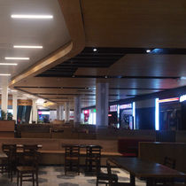 Ceiling acoustic panel / wooden / perforated / commercial