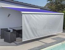 Folding-arm awning / semi-box / motorized / patio