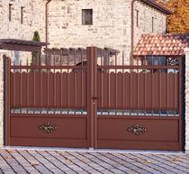 Swing gates / sliding / aluminum / with bars