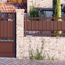 Garden fence / with bars / aluminum / stained
