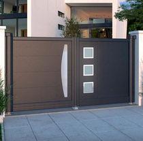 Swing gates / sliding / aluminum / brushed stainless steel