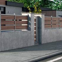 Aluminum garden gate / stainless steel