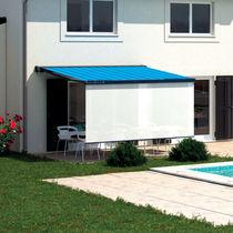 Box awning / folding-arm / motorized / patio