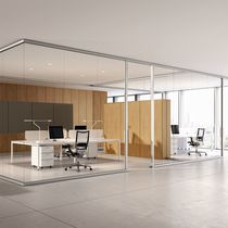 Removable partition / fixed / sliding / aluminum