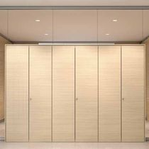 Fixed partition / wooden / for offices / professional