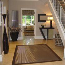 Contemporary rug / plain / cotton / jute