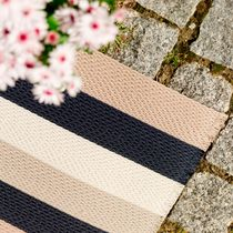 Contemporary rug / plain / striped / polyester