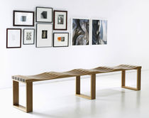 Indoor bench / contemporary / wood / modular