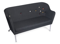 Contemporary sofa / steel / 2-seater