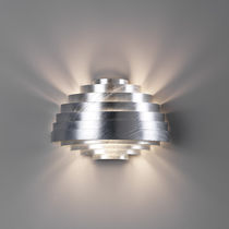 Contemporary wall light / outdoor / painted metal / for public spaces