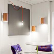 Contemporary wall light / glass / oak / acrylic