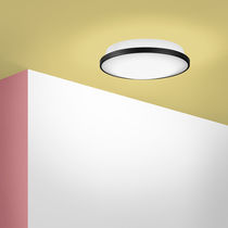 Contemporary ceiling light / round / plastic / LED