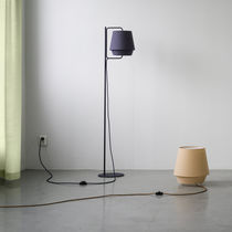 Floor-standing lamp / contemporary / fabric / acrylic