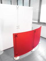 Floor-mounted office divider / plastic / modular / design