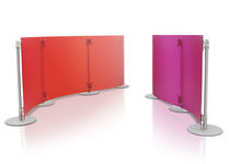 Floor-mounted office divider / plastic / modular