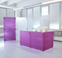 Modular reception desk / vinyl
