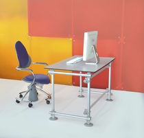Workstation desk / contemporary / aluminum / commercial