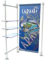 Glass facing display rack / for shops