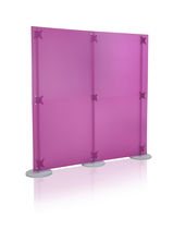 Contemporary screen / Plexiglas® / commercial / modular