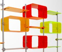 Modular shelf / original design / plastic