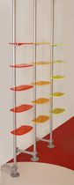 Wall-mounted display rack / aluminum / for shops