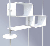 Wall-mounted display rack / beauty product / aluminum / for beauty salons